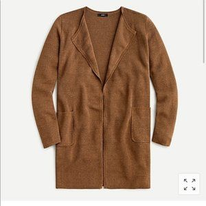 J. Crew Juliette collarless sweater-blazer